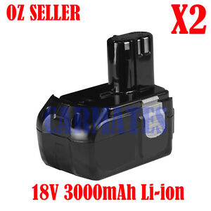 2X Battery For Hitachi 18V Li-ion 3.0Ah EBM1830 BCL1815 Heavy Duty Drill Driver