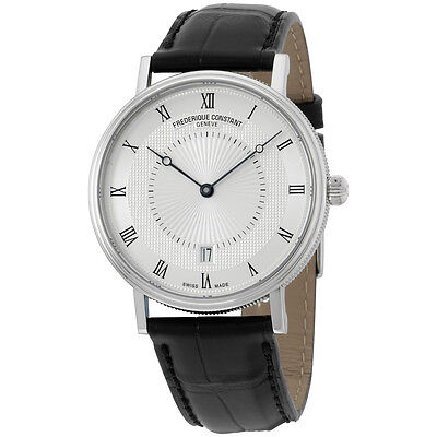 Frederique Constant Slimline Silver Dial Leather Strap Mens Watch Fc306mc4s36