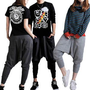 New-Women-Men-Casual-Baggy-Hip-hop-Harem-Trousers-Dance-Pants-Couple-Sweatpants
