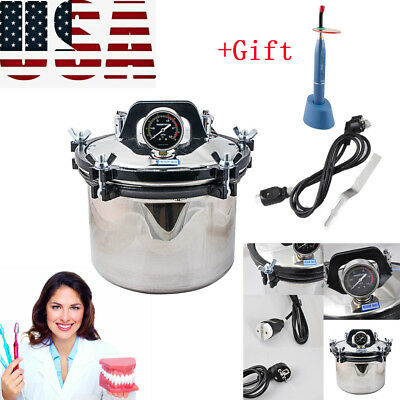 Stainless Steel Dental High-pressure Steam Sterilizer Disinfector Easy Usegift