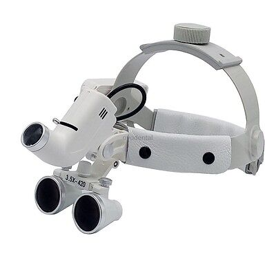 3.5x Dental Surgical Medical Headband Loupe With Led Light 5w Dy-106