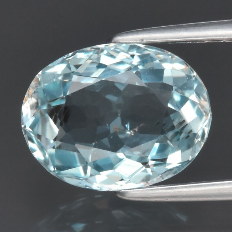 Top Luster! 1.90ct 9.4x7.3mm VS Oval Natural Blue Aquamarine Unheated Brazil
