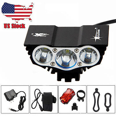 15000Lm LED Bicycle Headlight Mountain Bike Front Lamp Rear light