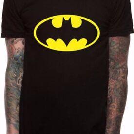 BATMAN LOGO T SHIRT ADULT SIZES 4XL, 5XL