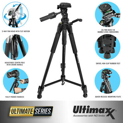 ULTIMAXX 72 Inch Full Size Professional Swivel Quick Release Non Slip Tripod