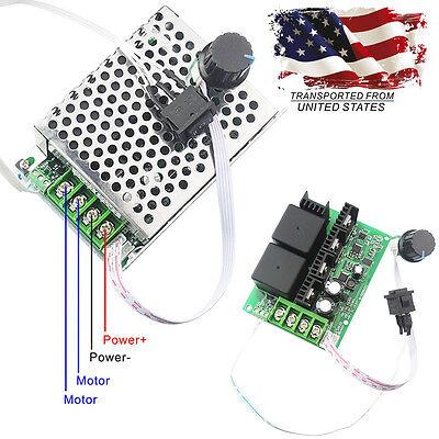 10v-50v 40a Pwm Dc Motor Speed Controller Cw Ccw Reversible Switch 12v 24v Us