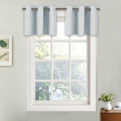 NICETOWN Greyish White Room Darkening Valances - Energy Efficient Kitchen -