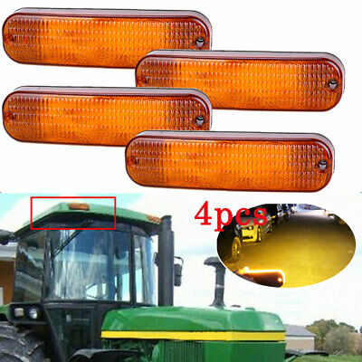 4x Ar60250 Amber Led Cab Roof Warning Light For Cab And Canopy Models Us Stock