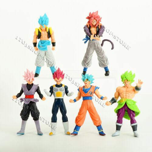6 pcs Dragon Ball Z Figures Set: Super Saiyan Goku Son Blue Gokou Vegeta & Broly