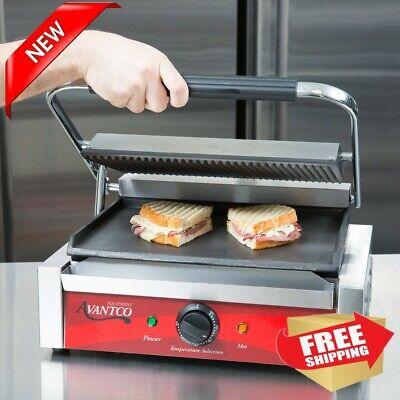 Commercial Grill Panini Sandwich Maker Press Cast Iron Heavy-duty