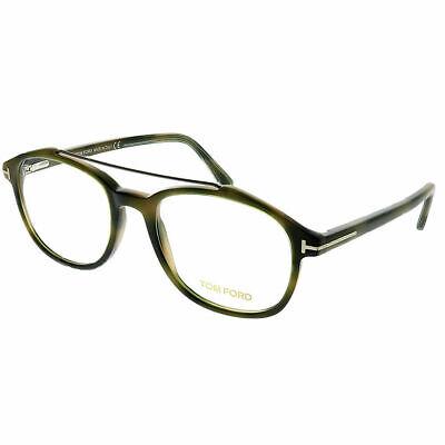 Tom Ford FT 5454 055 Green Havana Plastic Square Eyeglasses 50mm