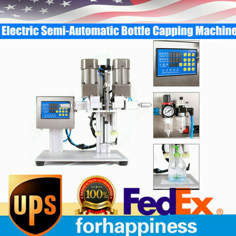 Semi-automatic Four Capping Wheel Bottle Capper Spray Head Capping Machine 110V