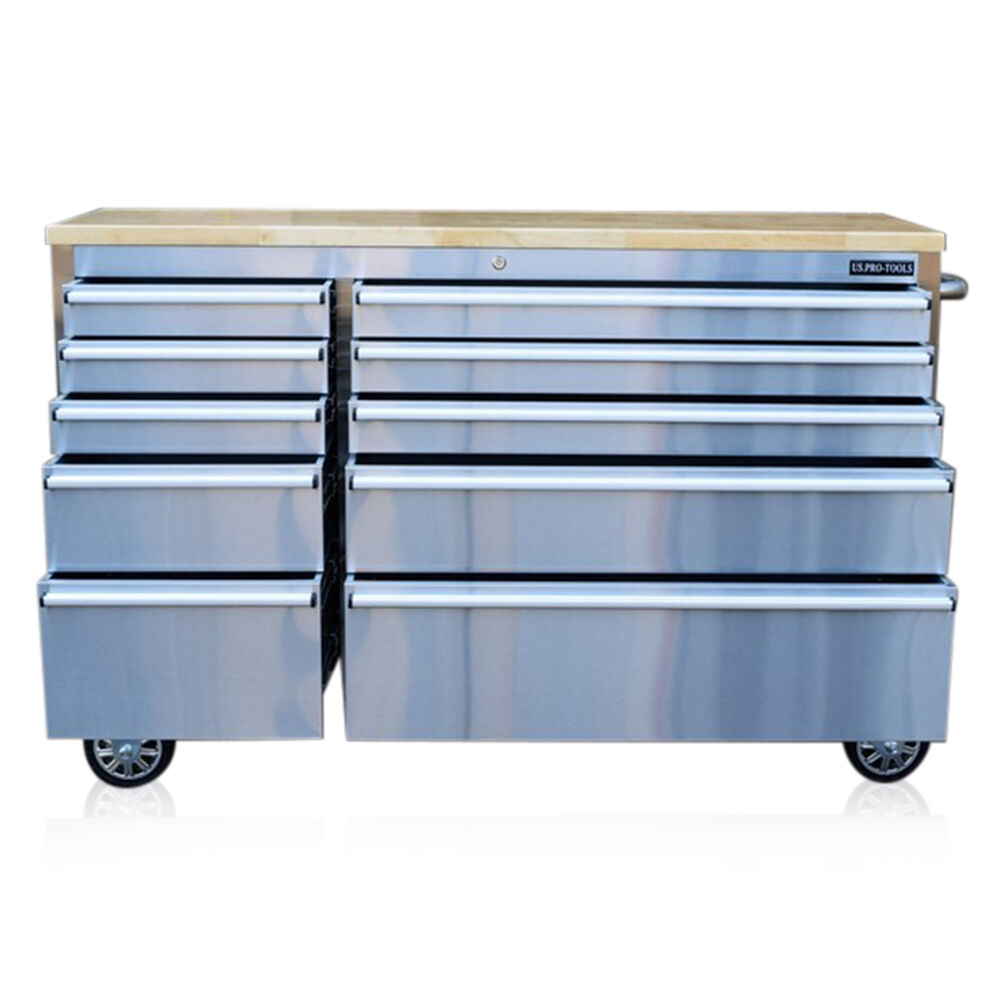 301 Us Pro Tool Chest Box Bench Stainless Steel 55