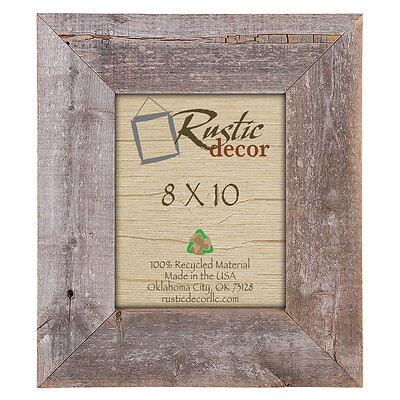 "8x10 –3.5"" Extra Wide Reclaimed Rustic Barn Wood Wall Frame"