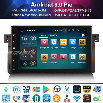 "9""Android 9.0 Stereo Sat Nav GPS NAVI DAB+4G for BMW E46 3er M3 Rover 75 MG ZT"