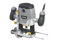 "Titan TTB591ROU 1250W Router 240V & Trend Router Cutter Starter Set ½"" 15 Piece Set"
