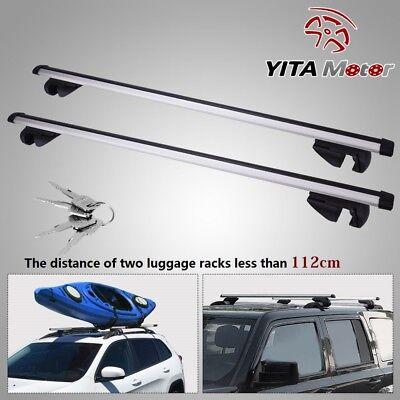 "48"" Aluminum Car Top Cross Bar Crossbar Roof Rack Pair For Cargo Luggage"