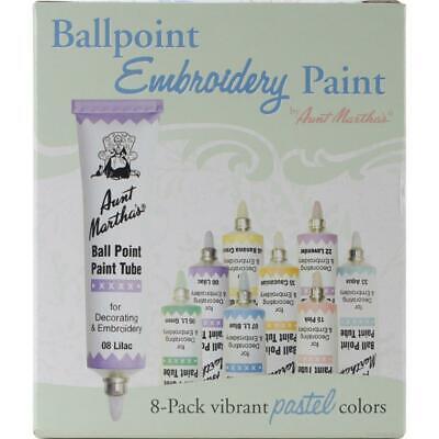 Aunt Martha's Ballpoint Paint Tubes Set of 8 Pastel Colors (Aunt Marthas Ballpoint Paint Tubes)