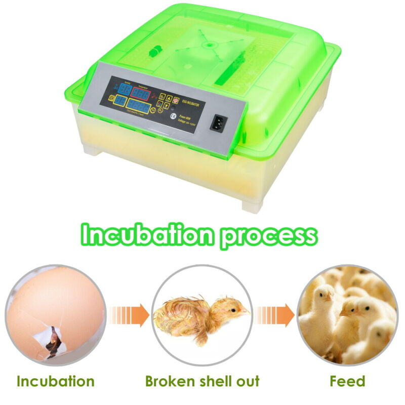 56 Egg Incubator Digital Poultry Hatcher Automatic Turning Temperature Humidity