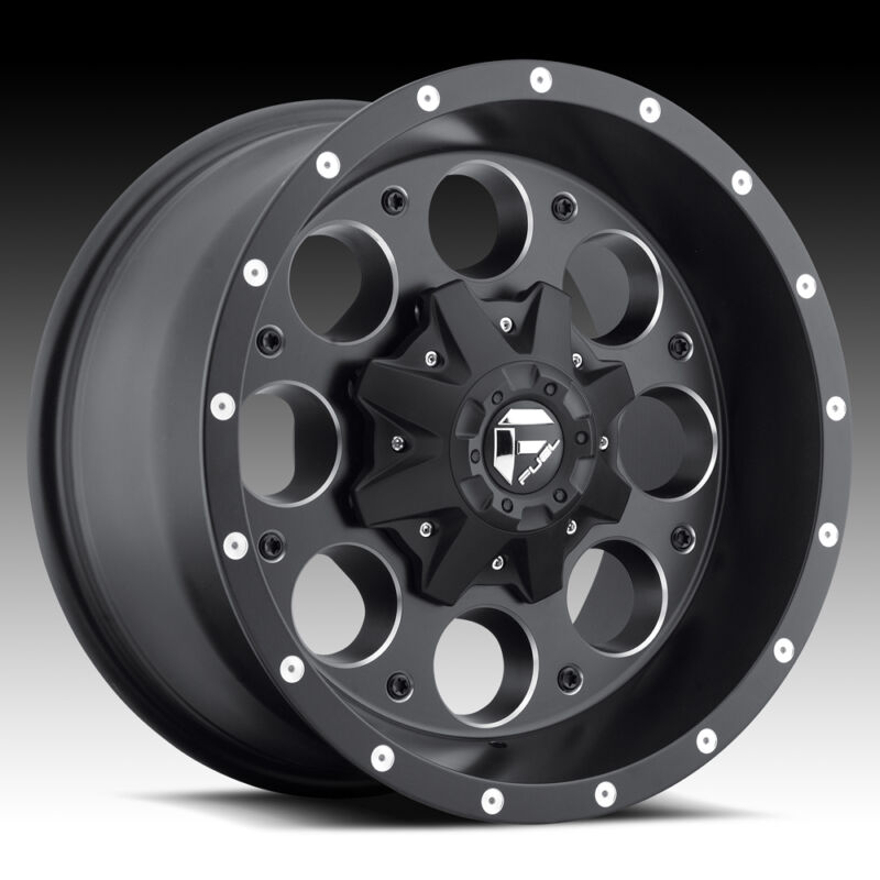"(5) 17"" Fuel Revolver Black Wheels Jeep Wrangler Jk 35"" Toyo Rt Tires Package"