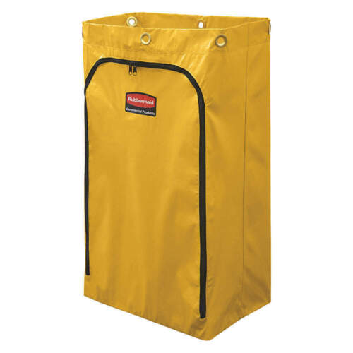Rubbermaid 1966719 Zippered Vinyl Cleaning Cart Bag, Yellow (RCP1966719) 6183