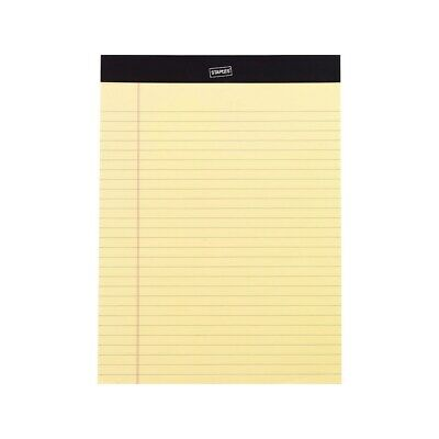 Staples Perf. Note Pads Wideletter Ruled Yellow 8-12 X 11-34 12pk Tr57300