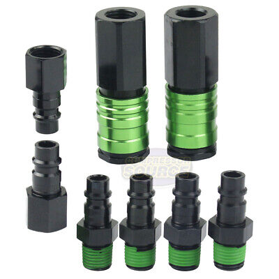 Flow Quick Couplers (GRIP 8 Piece Coupler Plug Set Quick Couplers Female Male Plugs 10302 High)