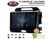 "Kia Sportage III 9"" Android HD Touchscreen WiFi Internet Radio GPS DVD Player USB SD BT Car Stereo"