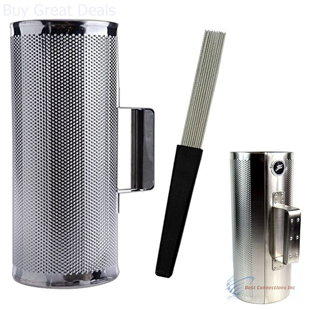 """Metal Guiro with Scraper 5/"""" x 12/"""" Stainless Steel Latin Percussion Instrument"""