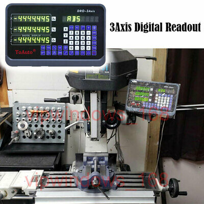 3axis Digital Readout Dro Display Read Out For Milling Lathe Machine Grindus