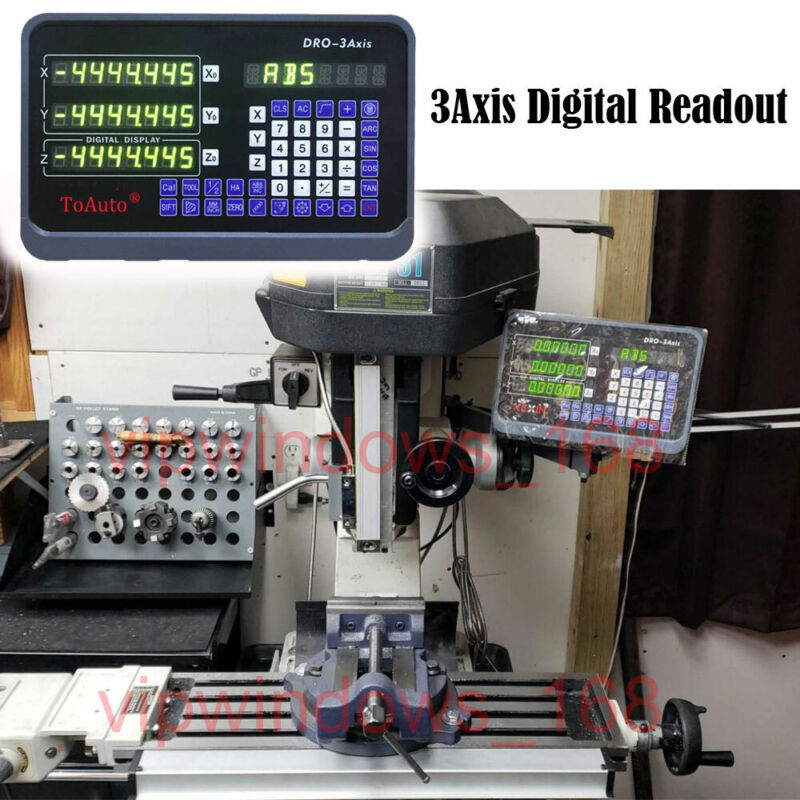 3Axis Digital Readout DRO Display Read Out for Milling Lathe Machine Grind,US