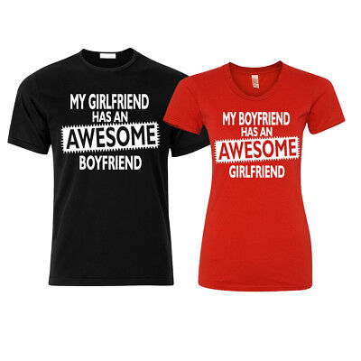 🔥 Awesome Boyfriend Girlfriend Couple Matching T shirts Funny love gift shirt](Funny Couples)