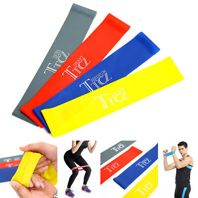 resistance bands loop set of 4 exercise