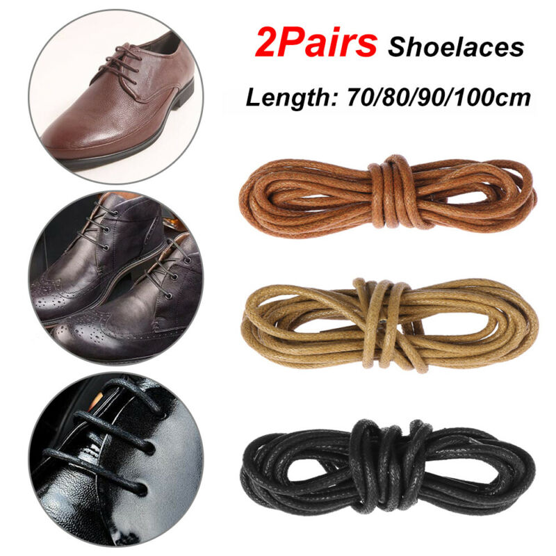 Boots Laces Strings Round Waxed
