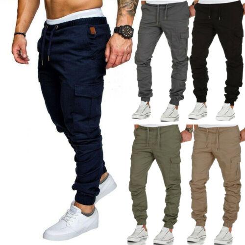 Casual Joggers Pants Sweatpants Cargo Combat Loose Active Sport Workout Trousers