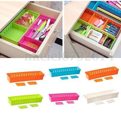 Adjustable Drawer Storage Organizer Home Kitchen Partition Divider Cabinet Box