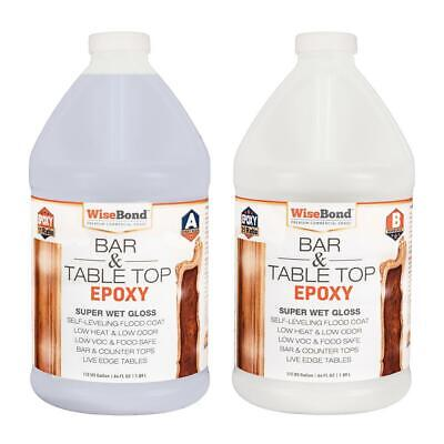 1 Gallon Clear Epoxy Bar Table Top Glass Wood And Concrete Counter Top Epoxy Kit