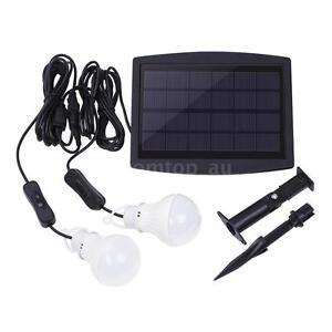 Solar Power Led Light Portable Bulb Lamp Lighting System for Camping Q3DU