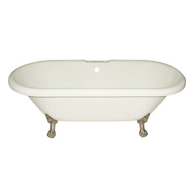 Randolph Morris 70 Inch Acrylic Double Ended Clawfoot Tub - Rim Faucet Drillings