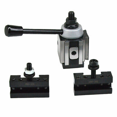 Axa Piston Quick Change Tool Post And Tool Holder For Lathe 6- 12 250-100 Set