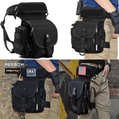 REEBOW GEAR Military Tactical Drop Leg Bag Tool Fanny Thigh Pack Pouch...