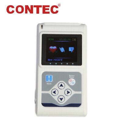 Tlc9803 Dynamic Ecg Waveform Holter Monitor 24 Hour 3 Lead Ekg Recorder Analyze