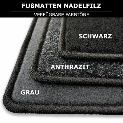 Fußmatten Passend für Mazda 6 GH (2007-2013) - Schwarz Nadelfilz 4tlg