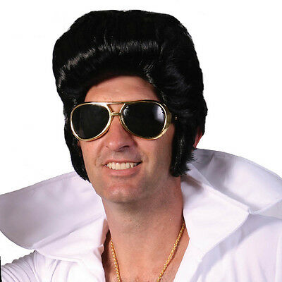 Adult Mens 1950s Elvis Presley Rockabilly Rock N Roll Wig Party cosplay Costume - 1950 Wigs