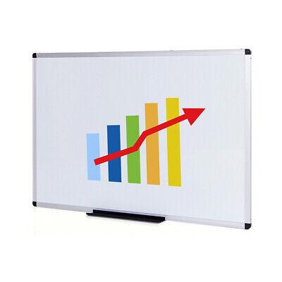 Viz-pro Magnetic Dry Erase Board White Board 48 X 32 Aluminium Frame