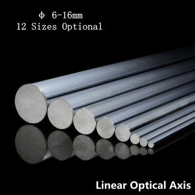 2pcs Od 6-16mm 300-1000mm Cylinder Optical Axis Linear Rail Linear Shaft Rod