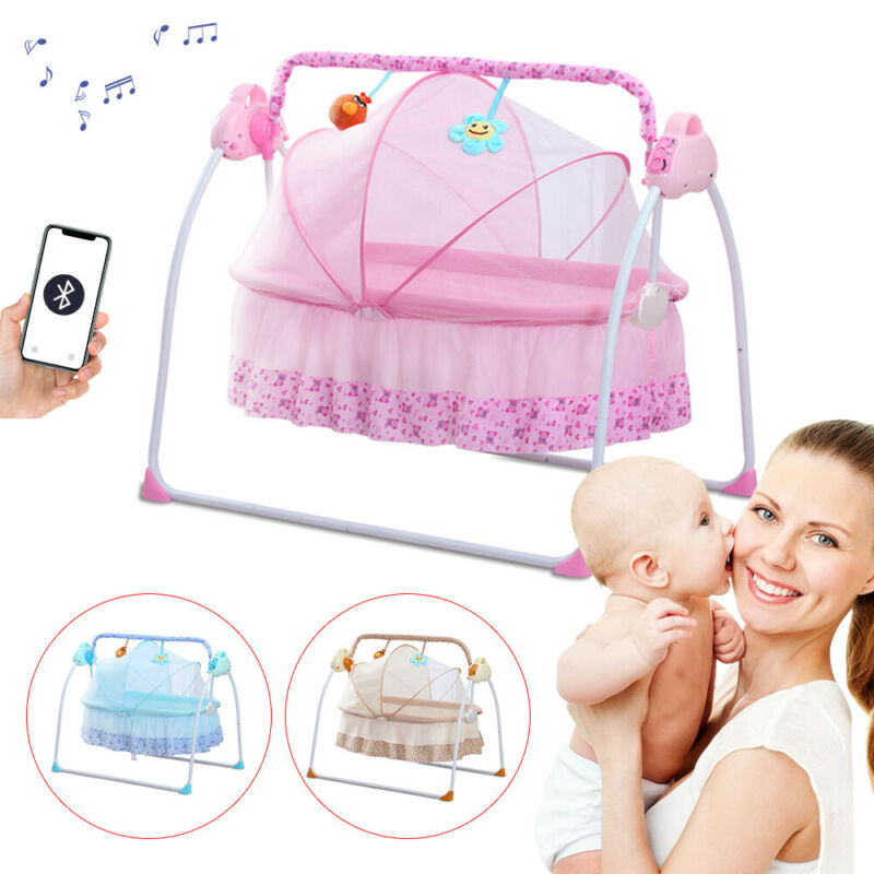 Electric Portable Baby Swing Cradle For Infants Rocker Swing Chair With Music US