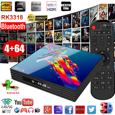 A95X R3 Smart Android 9.0 TV Box RK3318 Quad Core 4GB/64GB 4K Wifi Media Player