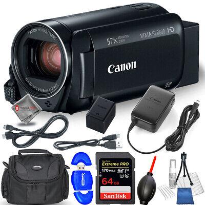 Canon VIXIA HF R800 Camcorder (Black) 1960C002 + 64GB Bundle - AUTHORIZED DEALER