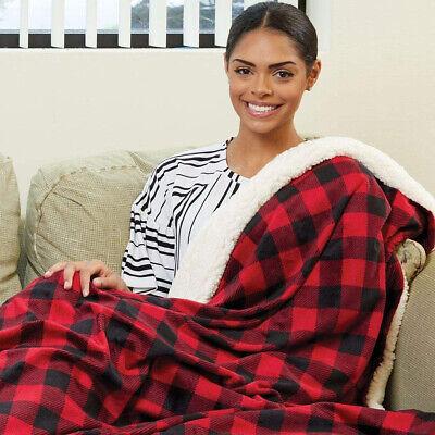 Sherpa Throw Blanket Solid Fleece Bed Blanket Plush Soft Warm Fuzzy Reversible